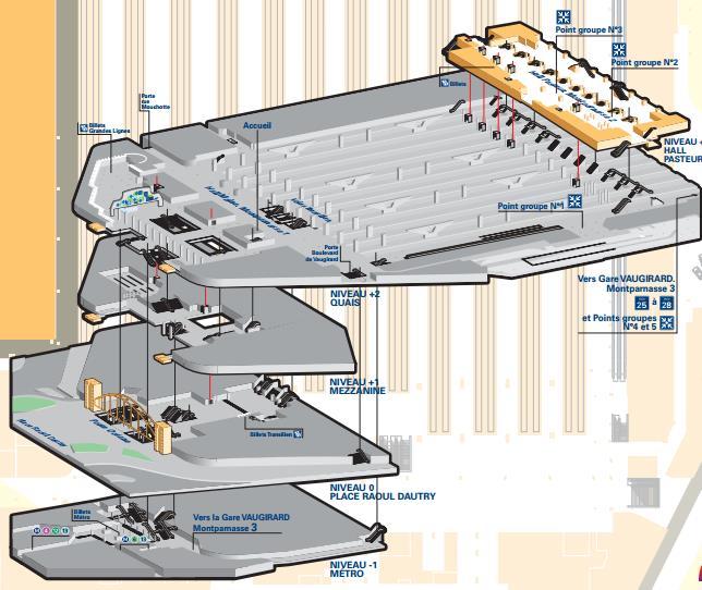 Plan gare montparnasse for Plan interieur gare montparnasse