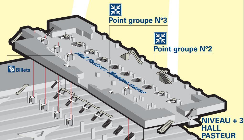 Plan niveau 3 gare Montparnasse