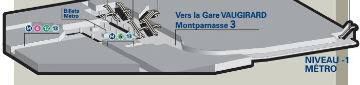 Plan niveau -1 gare Montparnasse