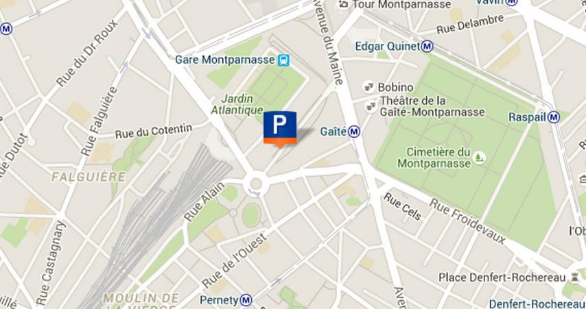 plan parking Catalogne gare Montparnasse