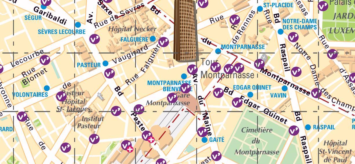 Vélib' gare Montparnasse